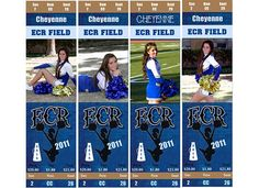 Made Cheer tickets for each of the girls.  Here I was just playing with pictures of Chey to see which one to use for her.