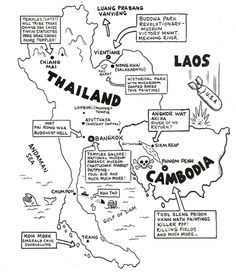 15 best travelling thailand images on pinterest destinations Similan Islands Vacation Rentals hand drawn map of thailand cambodia is copyright by mats all rights reserved