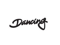 """lettering for """"dancing cheetah"""" party."""