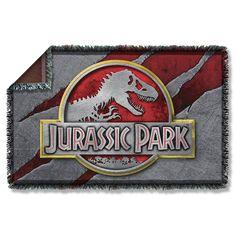 "Jurassic Park Movie Logo Slash Licensed Woven Throw Blanket 36"" X 60"" #Universal #Novelty"