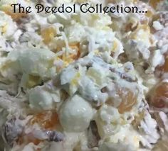 Seven Cup Salad  1 cup grated coconut 1 cup cottage cheese 1 cup sour cream 1 cup chopped nuts 1 cup crushed pineapple 1 cup fruit cocktail 1 cup mini marshmallows  In a large bowl, mix…