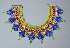 Abalotado huichol gargantilla collar africano tribal boho | Etsy Beads Jewelry, Beaded Jewelry Patterns, Beading Patterns, Boho Jewelry, Handmade Jewelry, Beaded Jewellery, Jewelry Box, Jewelry Accessories, Beaded Collar