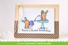 baked with love - new Fawn Lawn stamp set spring 2015