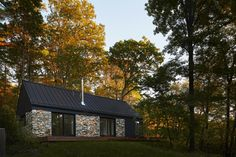 A Minimalist Retreat Rises From Old Stone Walls in Hudson Valley - Dwell