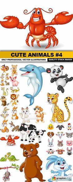 Cute Animals #4 - 20 Vector