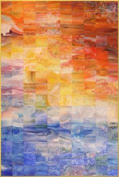 ocean mosaic quilt by hope54