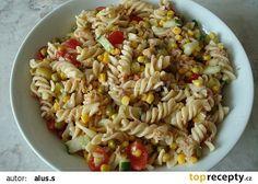 Těstovinový salát s tuňákem I recept - TopRecepty.cz Bon Appetit, Pasta Salad, Food And Drink, Ethnic Recipes, Diet, Salads, Bulgur, Crab Pasta Salad