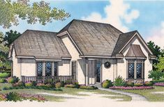 Compact European House Plan - 55005BR | Architectural Designs - House Plans