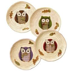 Crimson Hollow Owl Accent Plate (sold separately) by Grasslands Road. $15.76. Metal stand included. Dishwasher and microwave safe. 8 inch round ceramic plate with whimsical owl character. Includes 1 plate, choose color then add to gift message area in checkout. Gift box. Crimson Hollow Owl Accent Plate, by Grasslands Road. This owl plate has a hand-thrown look and features sculpted leaf accents. Metal stand included. Sold individually from the four colors in photo - Choose the...