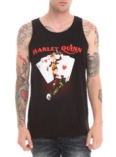 DC Comics Bombshells tank top with Harley Quinn design on front.