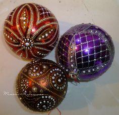 Фотография Christmas Tree Design, Beaded Christmas Ornaments, Handmade Ornaments, Hanging Ornaments, Christmas Art, Handmade Christmas, Christmas Decorations, Hand Painted Ornaments, Ornaments Design