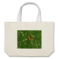 Great Spangled Fritillary Butterfly Grass Tote Bag