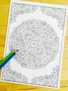 Coloriage imprimable, main dessinée et guidé - Digital download  taille dimpression standard 8 x 11 pouces (A4).  Cette gravure fait à la main tiré et alors transformé en une image vectorielle haute résolution, afin quil peut être imprimé à nimporte quelle taille et ne pas perdre toute