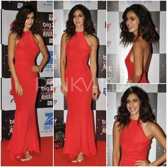 Disha Patani at Big Entertainment Awards Celebrity Style, Disha Patani, Green Carpet, Red Queen, Bollywood, Awards, Entertainment, Gowns, Actresses