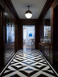 Patterned floors add just enough punch.