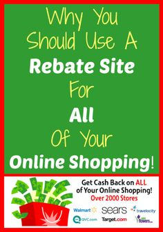 A rebate site is a site that you can go through when making purchases online and they will give you cash back for shopping through their site. I love rebate sites and here's Why You Should Use A Rebate Site For All Of Your Online Shopping!
