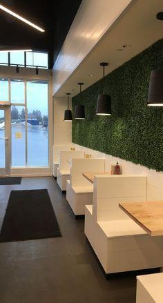 cafe restaurant Freshii Ajax, ON I like the lighting is part of Coffee shop design -
