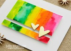 watercolor background using distress inks on clear acrylic blocks--quick little video too