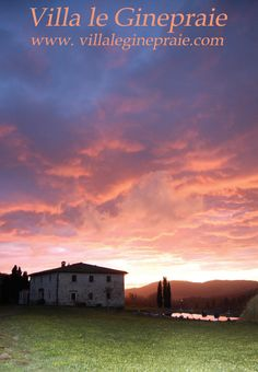 We publish this picture taken at our villa in Tuscany at sunset after the interminable rains of recent days. The Tuscan Villa you see in the photo at sunset, can accommodate 10 -12 people and you can rent during the months of April, May, June, July, August, September, October and November. For any information Paola and Valerio are at your disposal: www.leginepraie.com