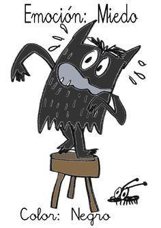 ¿Qué puedo hacer hoy?: Emociciones de colores V: Negro-Miedo
