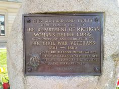 Civil War Veterans historic marker, erected by Woman's Relief Corps, Federal Building 526 Water Street Port Huron Michigan Port Huron Michigan, State Of Michigan, Historical Architecture, Markers, War, Street, Building, Federal, Sharpies