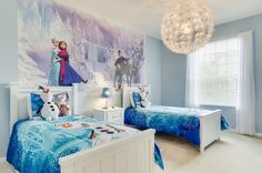 Nautical Frozen Wall Decals Animal — Brand Resort Home Ideas Disney Themed Bedrooms, Bedroom Themes, Bedroom Decor, Frozen Girls Room, Frozen Bedroom, Frozen Wall Decals, Elegant Girls Bedroom, Chambre Nolan, Kids Bedroom Designs