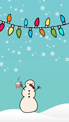 Snow Man ★ Download more Christmas iPhone Wallpapers at @prettywallpaper
