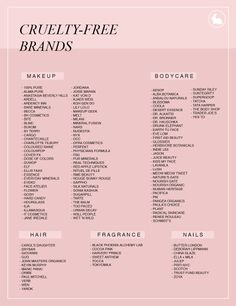 femmefatalewithasoul: BRANDS THAT TEST ON ANIMALS VS BRANDS... Cruelty Free Makeup Uk
