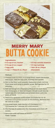This holiday season, give your friends and family a taste of Belize with some Merry Mary Butta Cookies.