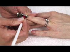 Lisa Eldridge gets MINX NAILS by www.LisaEldridgedot.com