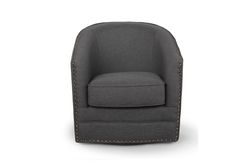 Lowest price on Baxton Studio Porter Gray Swivel Glider Tub Chair Baxton-DB-182-gray. Shop today!