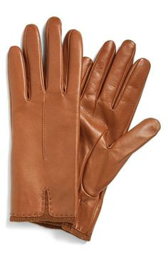 Fownes Brother Knit Cuff Leather Gloves
