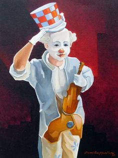 Clown with hat - by Damião Martins