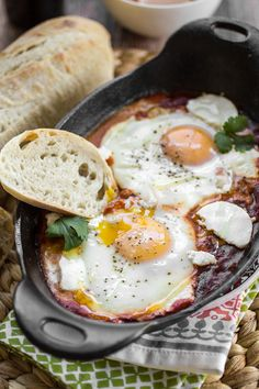Harissa Shakshuka (North African Eggs in Purgatory) - The Wanderlust Kitchen