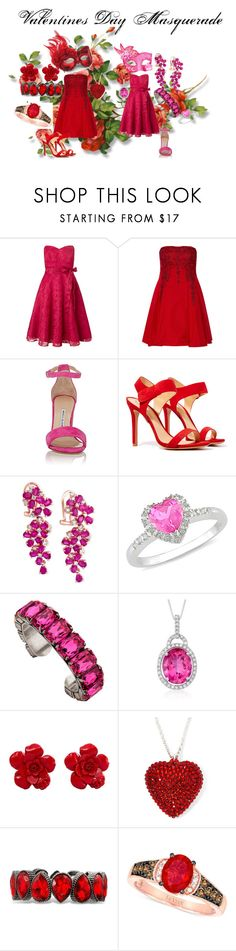"""""""Happy Valentines' Day!!!!"""" by fangindiegirl on Polyvore featuring Ariella, Notte by Marchesa, Manolo Blahnik, Schutz, Effy Jewelry, Ice, Janis Savitt, Ross-Simons, Chanel and LE VIAN"""