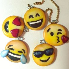 I made these emoji keychains from fimo :)