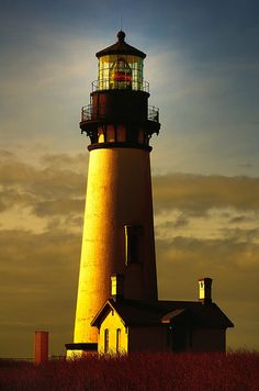The historic Yaquina Head Lighthouse, Oregon's tallest and second oldest continuously operating lighthouse