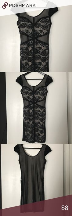 H&M Lace Dress Beautiful sheer back lace dress. H&M size 10 but fits like H&M size 6. Has never been worn. In new condition. H&M Dresses