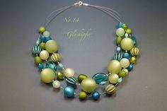 Ketten kurz - ♥ No.14 ♥ Kette-Polaris - grün - ein Designerstück von glashuepfer bei DaWanda