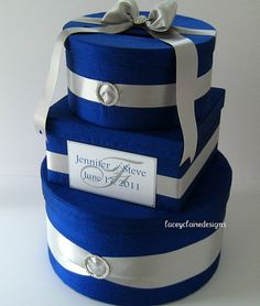 Wedding Gift Box Card Holder   Royal Blue by LaceyClaireDesigns, $112.00