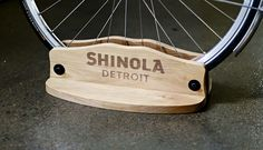 an idea from which to move forward from ~ burnt cedar, straight, easy peasy. Bicycle Hanger, Bicycle Stand, Bike Rack, Bike Stands, Bicycle Shop, Outdoor Bike Storage, Bicycle Storage, Bike Shelf, Wood Bike