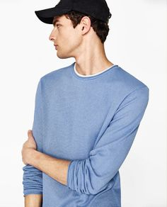 Image 3 of SWEATER WITH CONTRASTING T-SHIRT from Zara