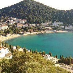 #green #sea Lapad #beach #dubrovnik by mareno_dizajn   dubrovnik-croatia.com