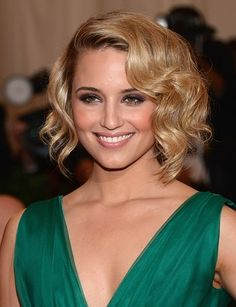 Dianna Agron    She's probably most known for her role in 'Glee' and in I Am Number 4. She's a great actress, and a fantastic singer.