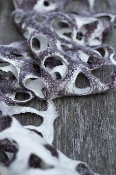 A felted shawl