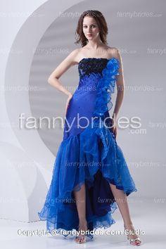 Fascinating Royal Blue Strapless Applique Prom Dress - Fannybrides.com Princess Prom Dresses, Best Prom Dresses, Plus Size Prom Dresses, Prom Dresses Online, Cheap Prom Dresses, Prom Party Dresses, Formal Evening Dresses, Homecoming Dresses, Dresses 2013