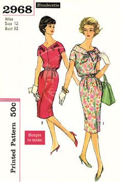 Vintage Dress Pattern Illustration 10 x 15 by cheeseboyproducts