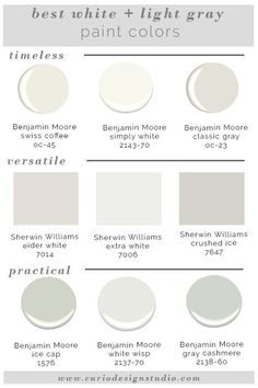 Whites and grays are super trendy right now but it is hard to know which one to pick. Here are my BEST WHITE PAINT COLORS!
