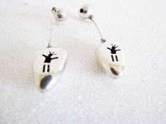 Zuni Earrings Dangle Earrings Sterling Silver Dancing Man