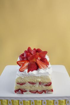 strawberry lemon icebox cake from the cookbook: icebox cakes (as featured in the hanford sentinel)
